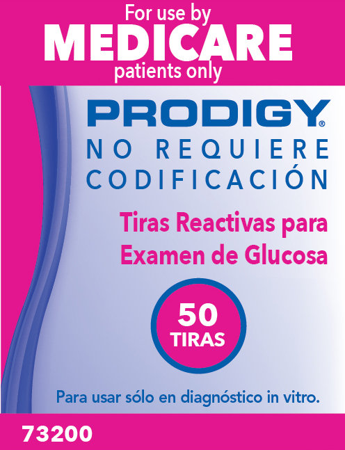 Prodigy 73200 Medicare Test Strip Packaging (BACK)